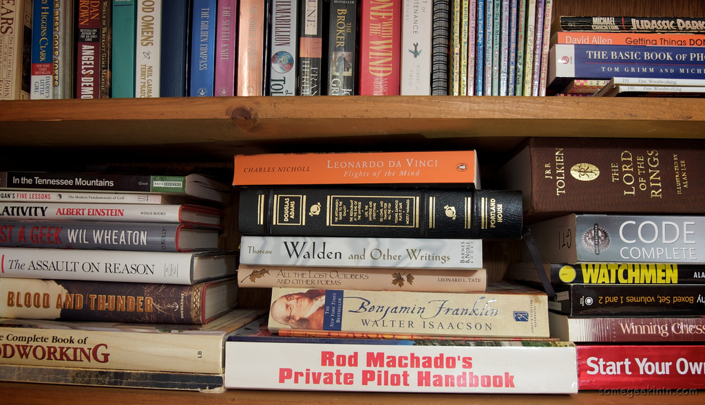 stack of books - photo by Casey Fleser