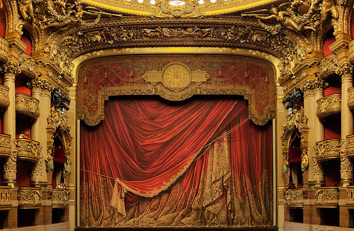 Opera Stage and Curtain by Joe deSousa