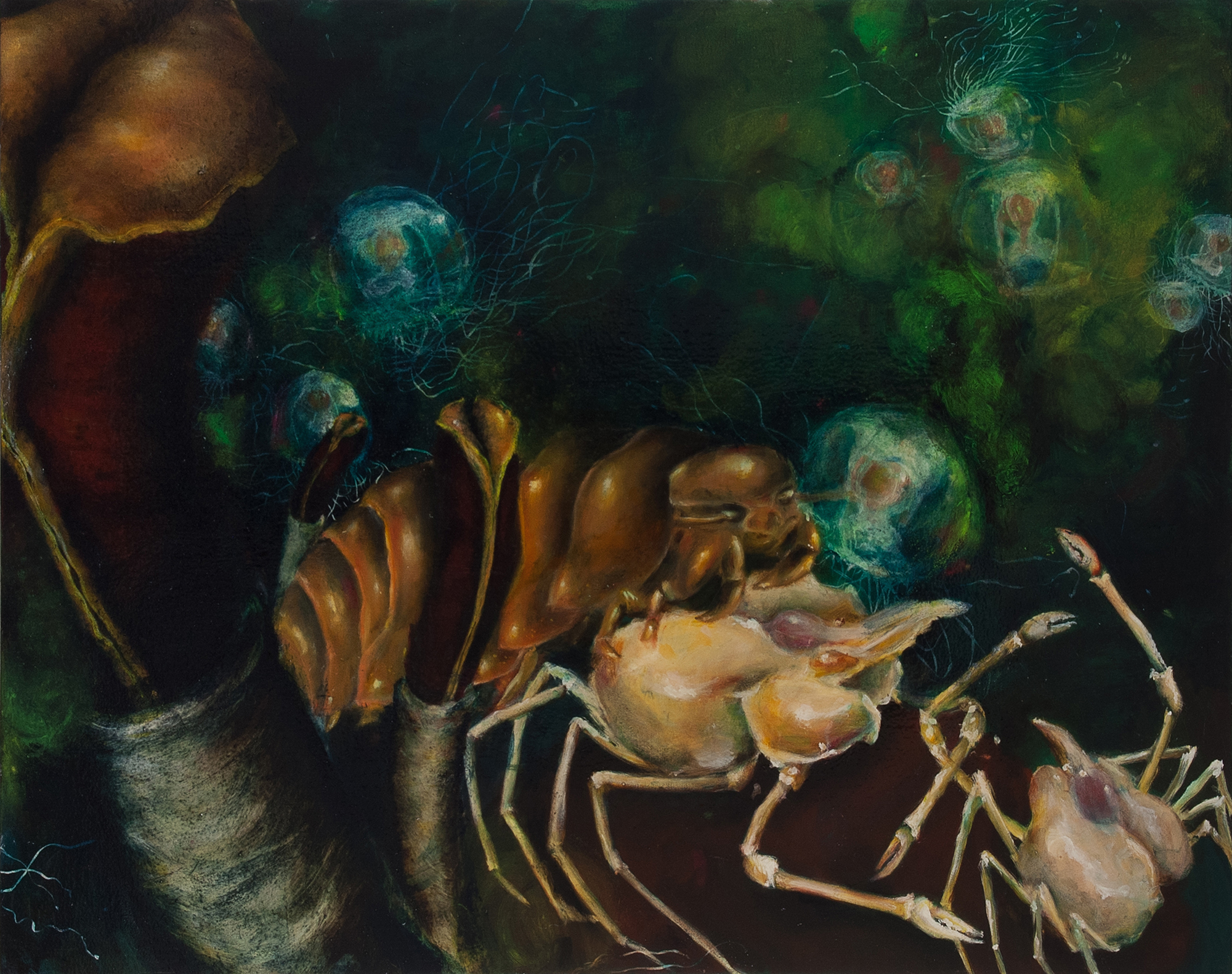 13. Benthic Bacchanal, 2012, Oil on canvas, 48 x 60 inches