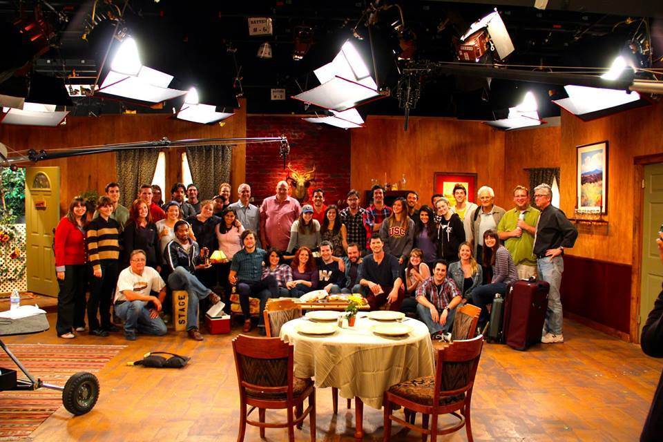 "Crew for Multicamera Sitcom Class - on set of the show ""Bed and Breakup"""